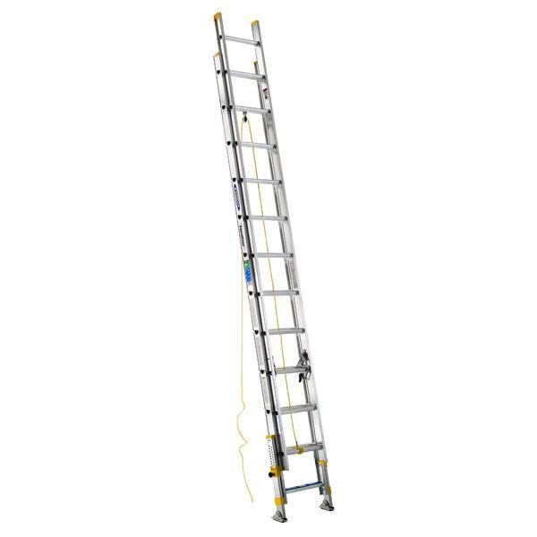 Werner 24 ft Type II Aluminum D-Rung Equalizer Extension Ladder
