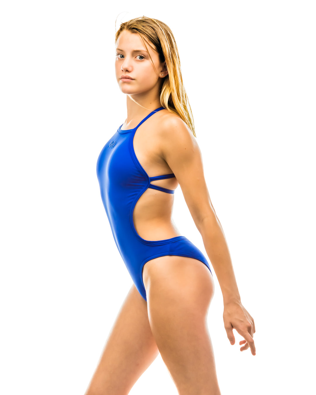SeaChange Swimsuit in Ocean Blue (open back)