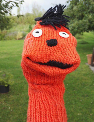 Orange Sock Puppet
