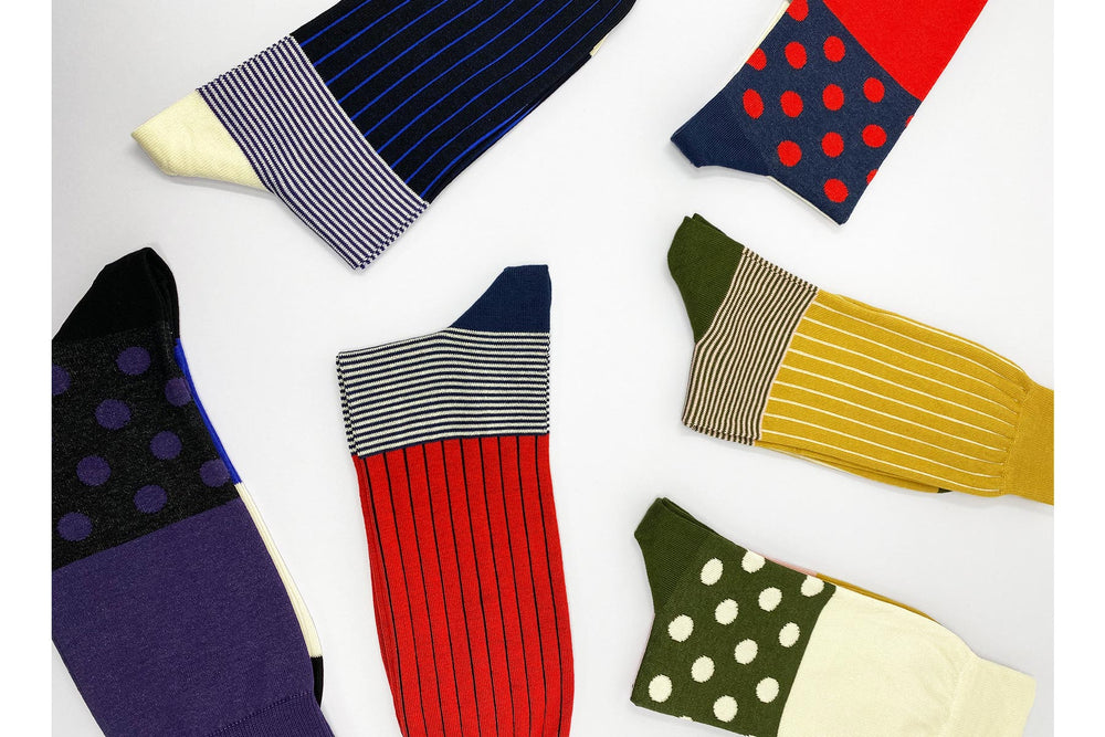 Peper Harow Striped and Polka Socks New Arrivals