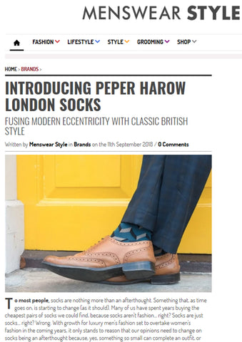 Peper Harow London in Menswear Style