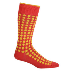 Diamonds 2 Tone Red & Yellow Men's Socks