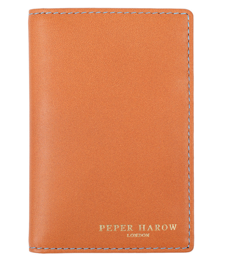 Tan Compact 6 Card Men's Leather Wallet