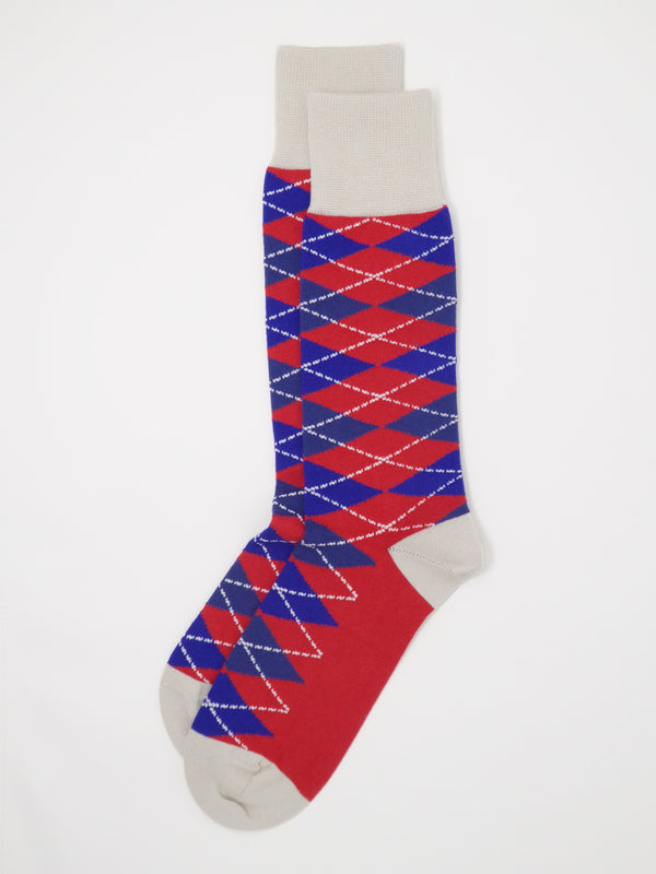 Argyle Men's Socks - Crimson