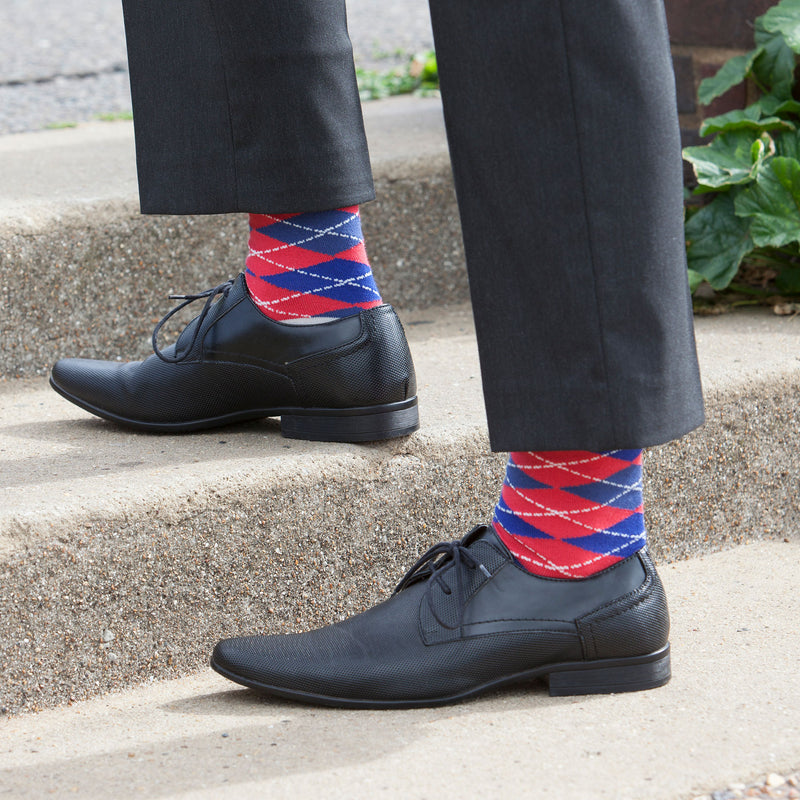 Argyle Crimson Men's Luxury Socks