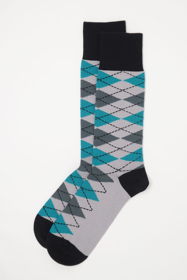 Argyle Men's Socks - Grey