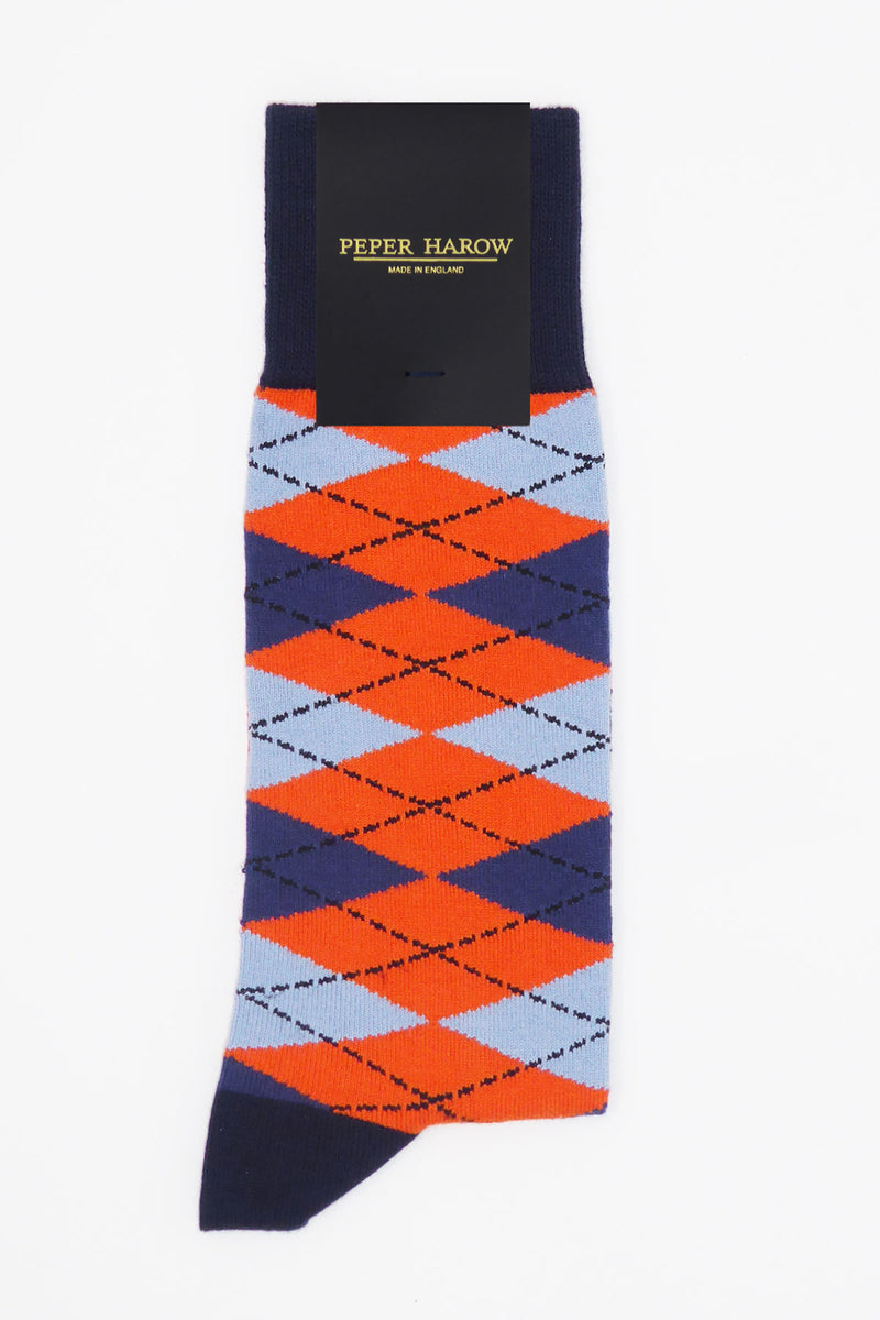 Argyle Men's Socks - Orange