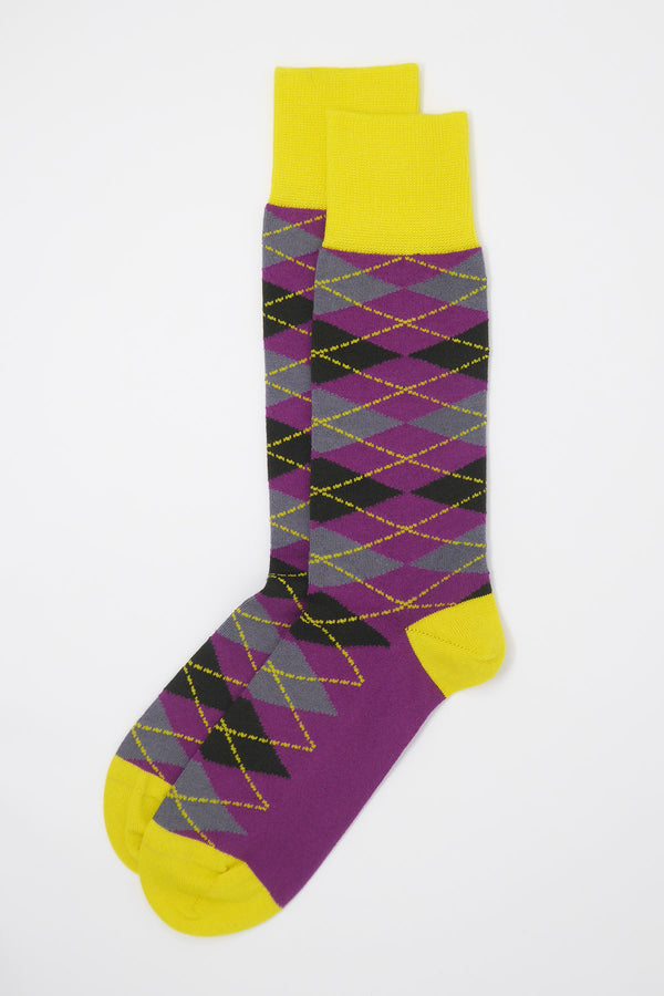Argyle Men's Socks - Sunshine