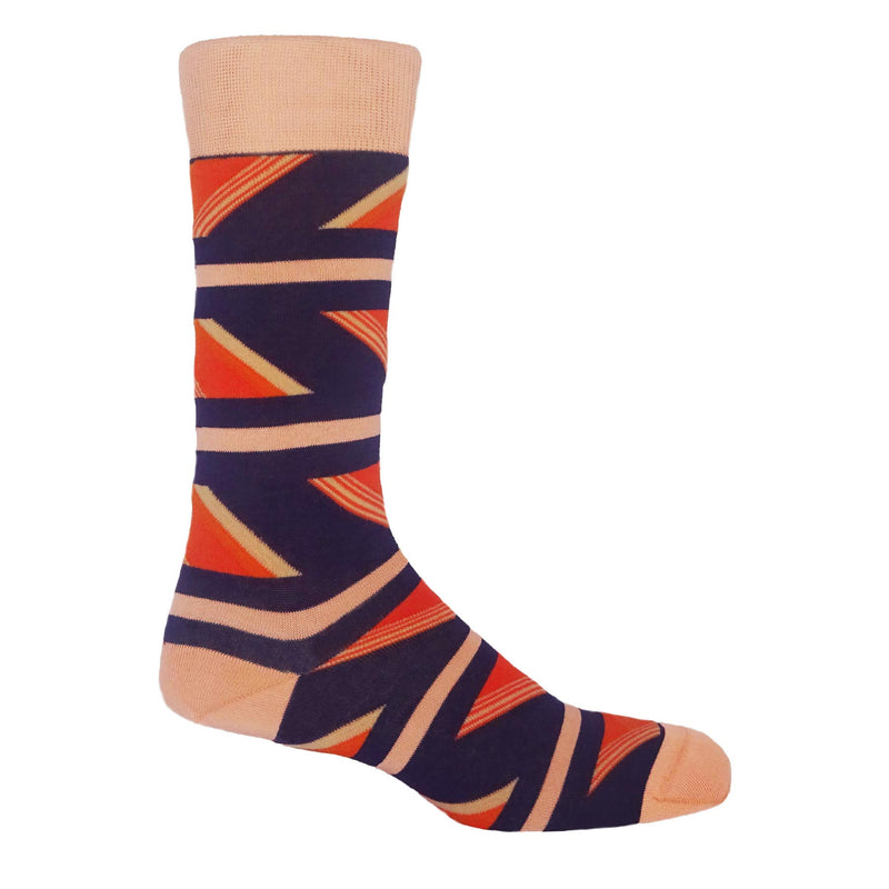 Geometric Men's Socks - Aubergine