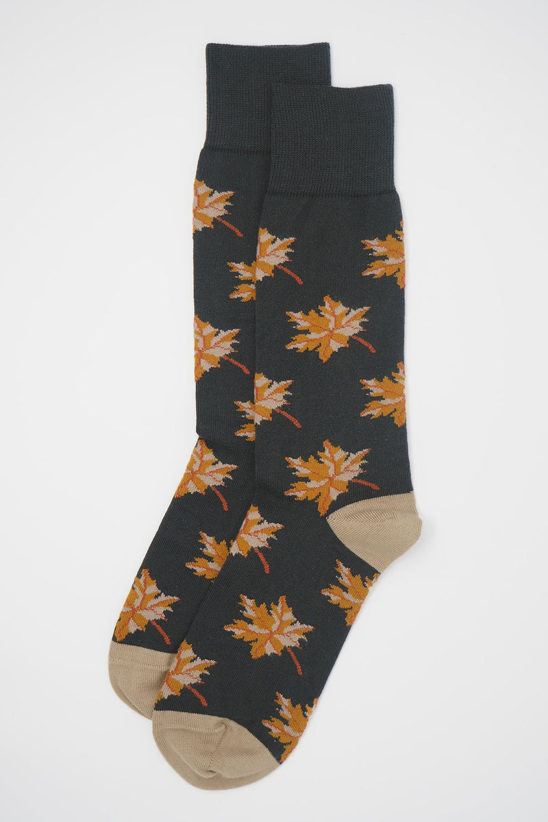 Autumn Leaf Men's Socks - Grey