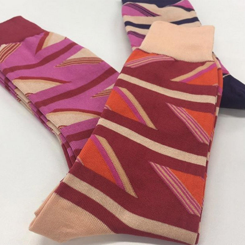 Berries Geometric luxury men's socks