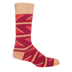 Geometric Men's Socks - Berries
