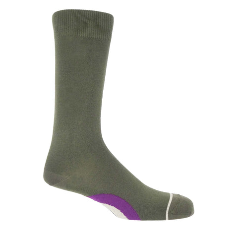 Big Target Olive Men's Socks