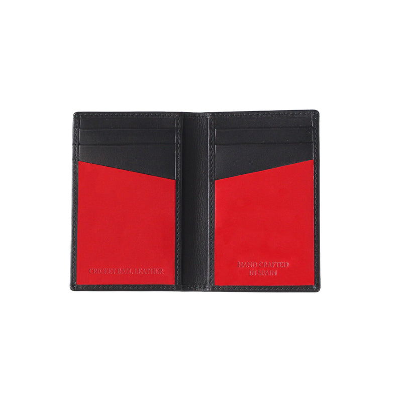 Black 6 card men's leather wallet