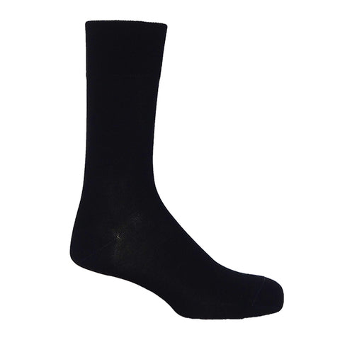 Black Plain Personalised Men's Socks