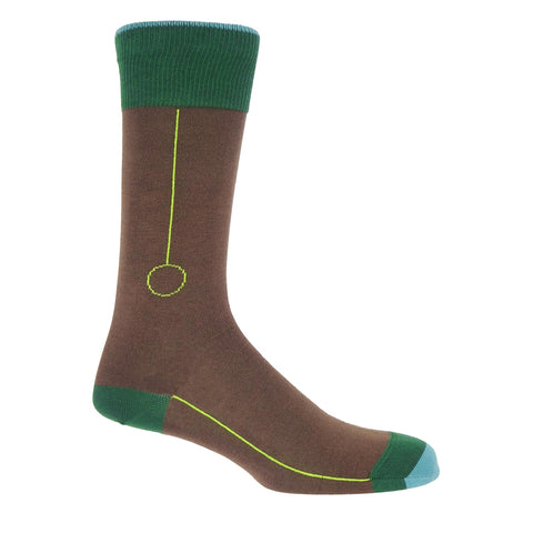 Blockhead Men's Socks - Brown