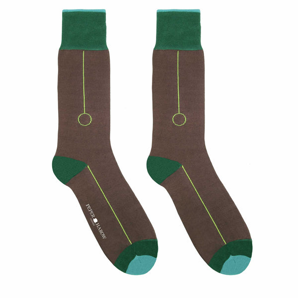 Blockhead Brown Men's Luxury Socks