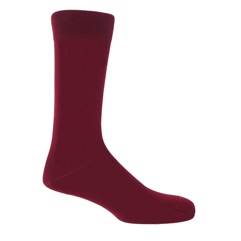 Classic Burgundy Men's Luxury Socks