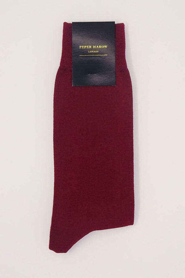 Classic Men's Socks - Burgundy