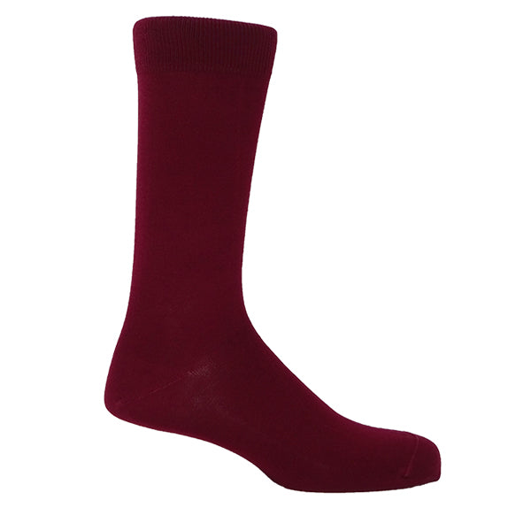 Burgundy Plain Personalised Men's Socks