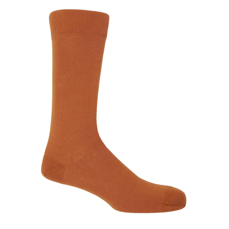 Classic Men's Socks - Burnt Orange