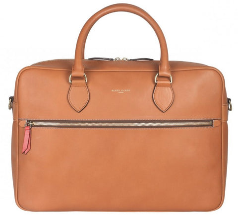 Tan Business Leather Men's Bag