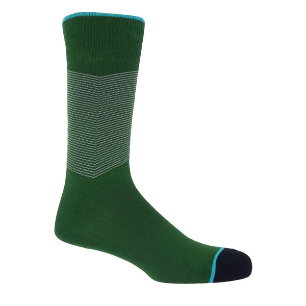 Chevron Men's Socks - Green