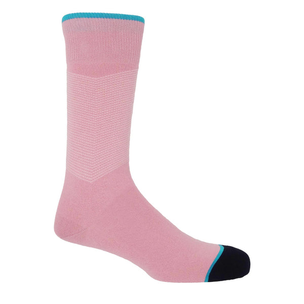 Chevron Men's Socks - Pink