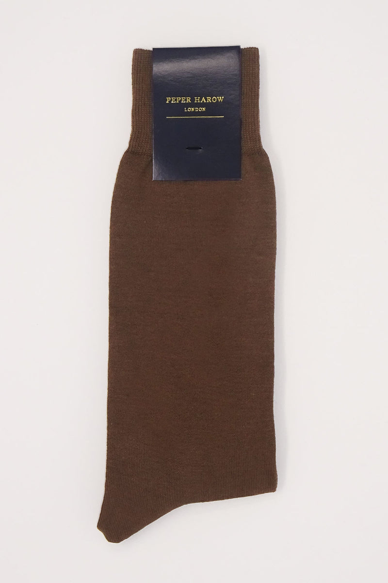 Classic Men's Socks - Chocolate