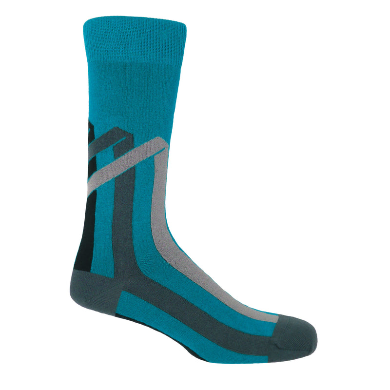 Peacock Ribbon Stripe Luxury Men's Socks