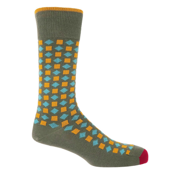 Diamonds Men's Socks - Khaki