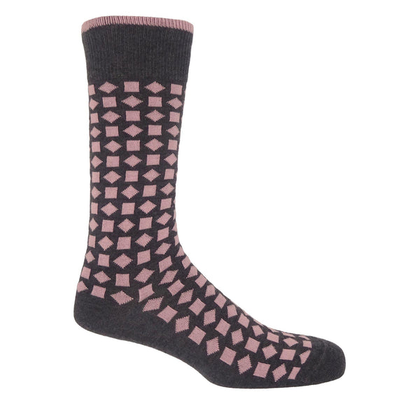 Diamonds Men's Socks - Pink