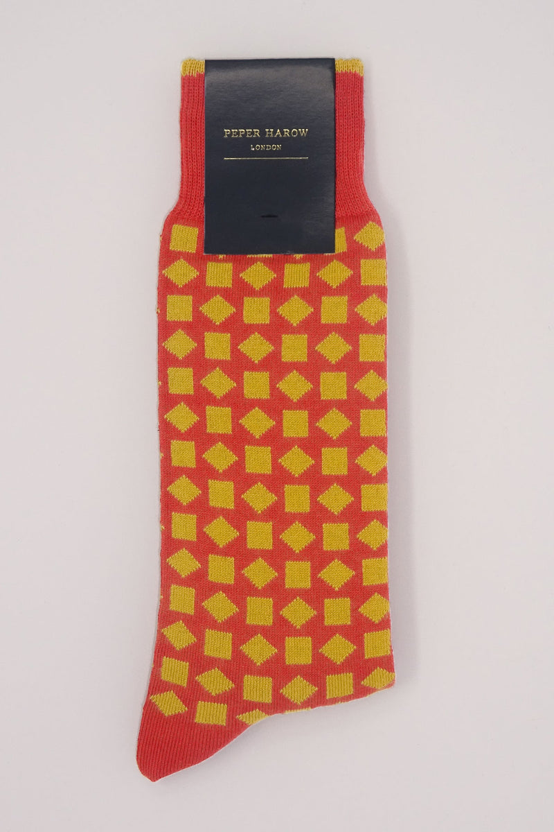 Diamonds Men's Socks - Red