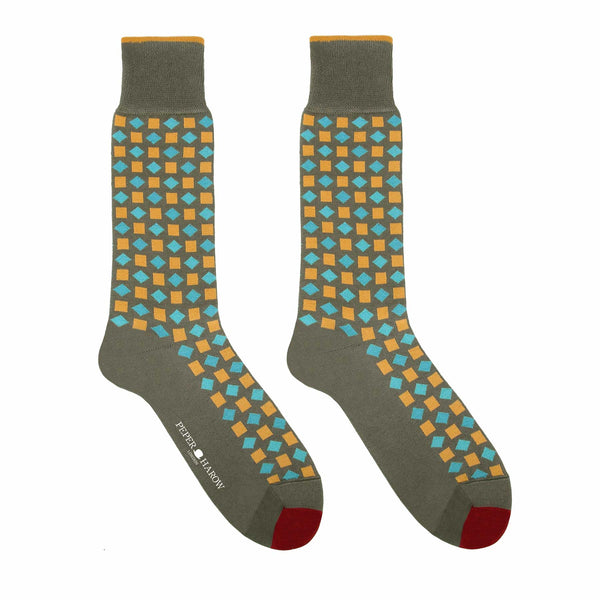 Khaki Diamonds Men's Luxury Socks