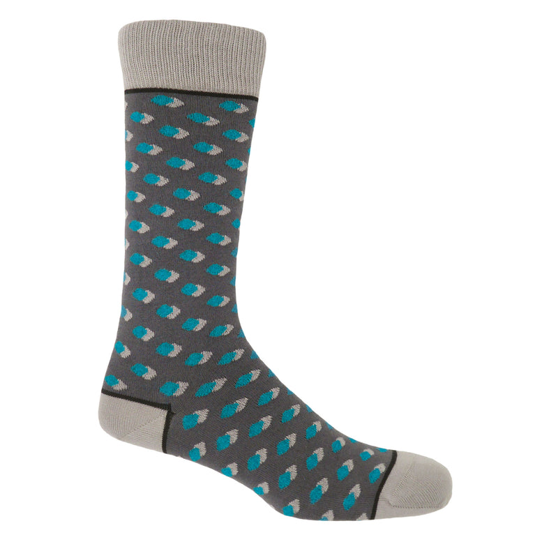 Peper Harow Disruption Grey Men's Luxury Cotton Socks