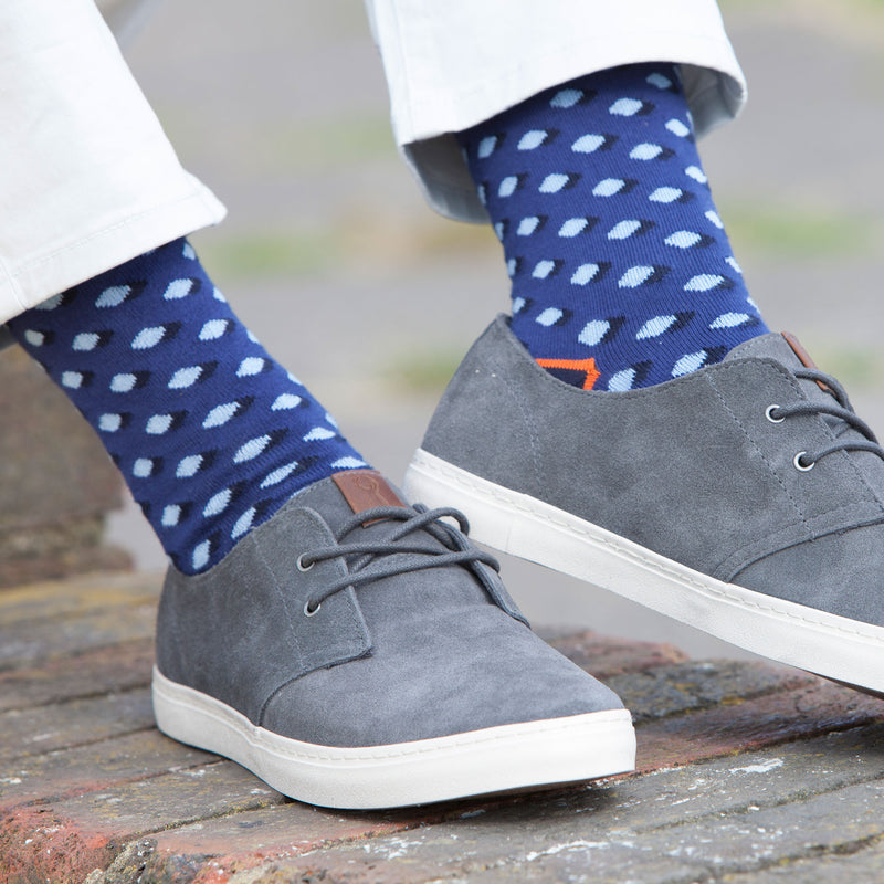 Disruption Navy Men's Luxury Socks