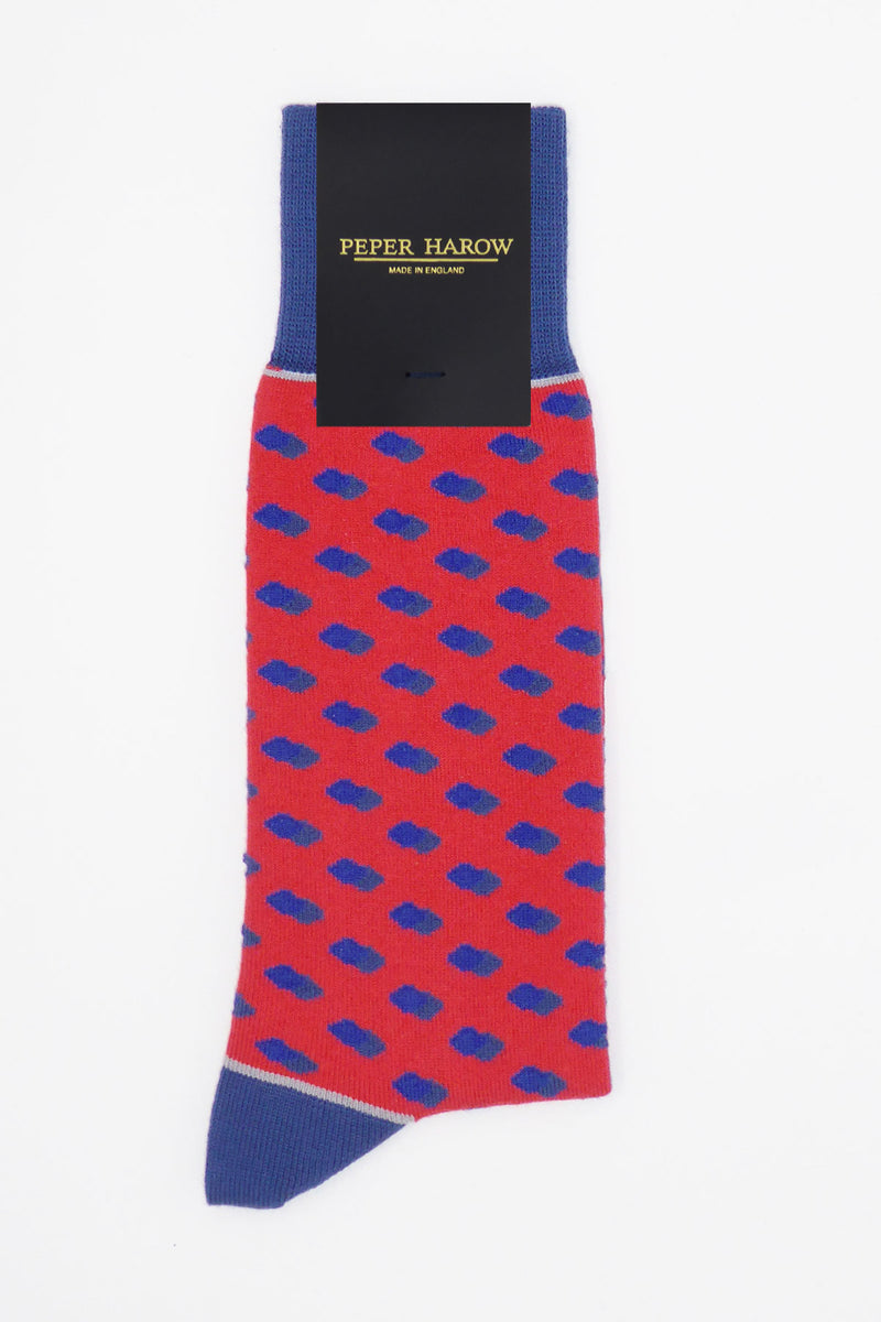 Disruption Men's Socks - Scarlet