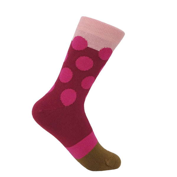 Raspberry Eleanor women's luxury socks