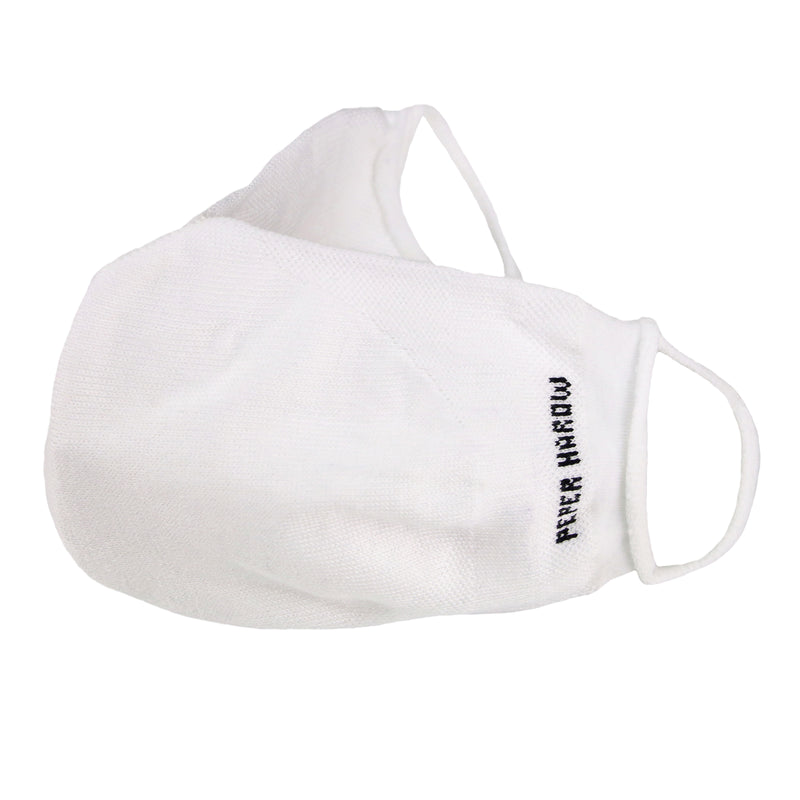 Peper Harow White Supima cotton Face Mask
