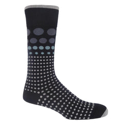 Grad Polka Men's Socks - Black