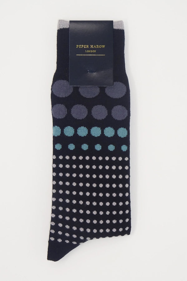 Grad Polka Black Men's Luxury Socks