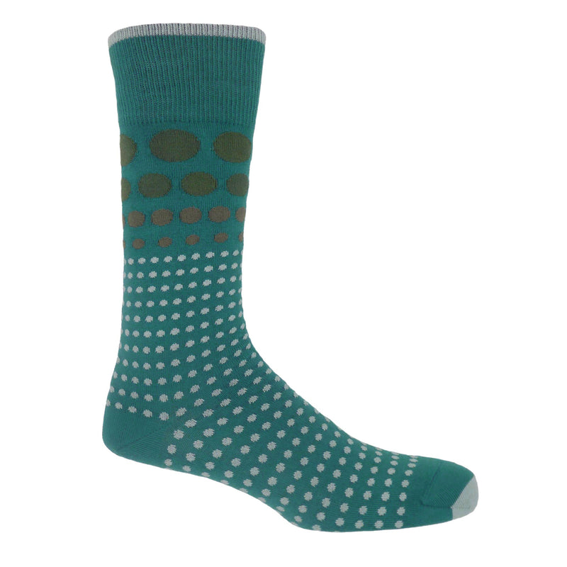 Grad Polka Men's Socks - Teal