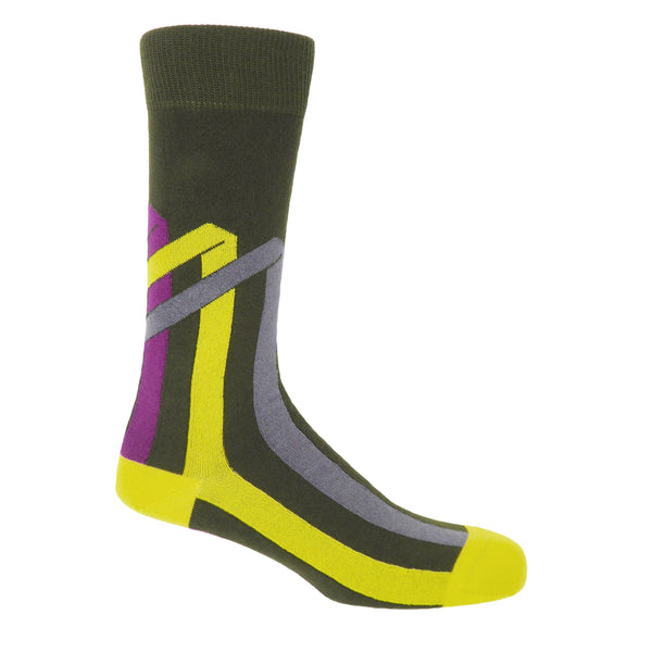 Ribbon Stripe Luxury Men's Socks