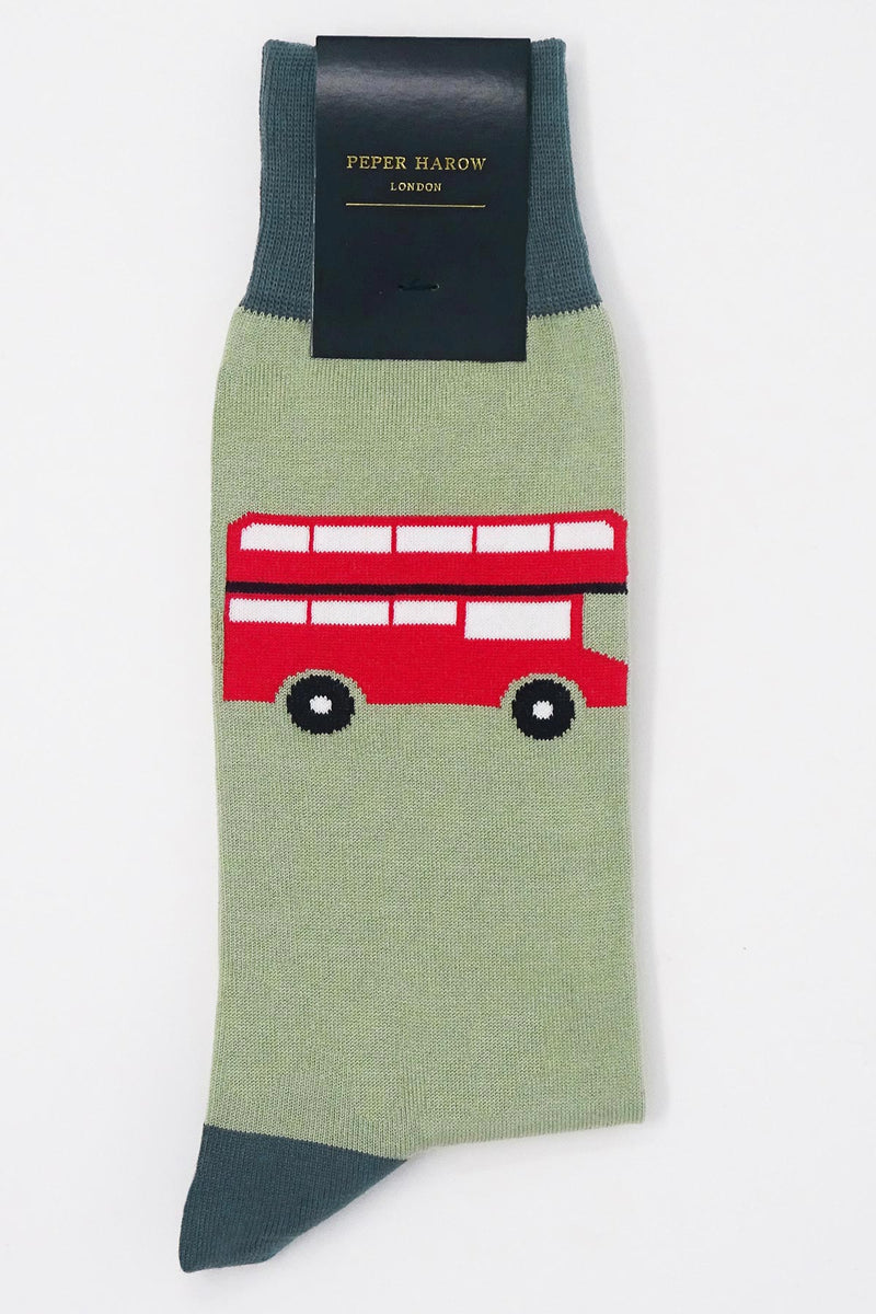 London Bus Sage Luxury Men's Socks