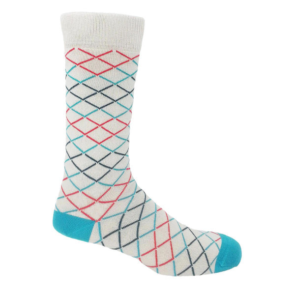 Hastings Men's Socks - Grey & Blue
