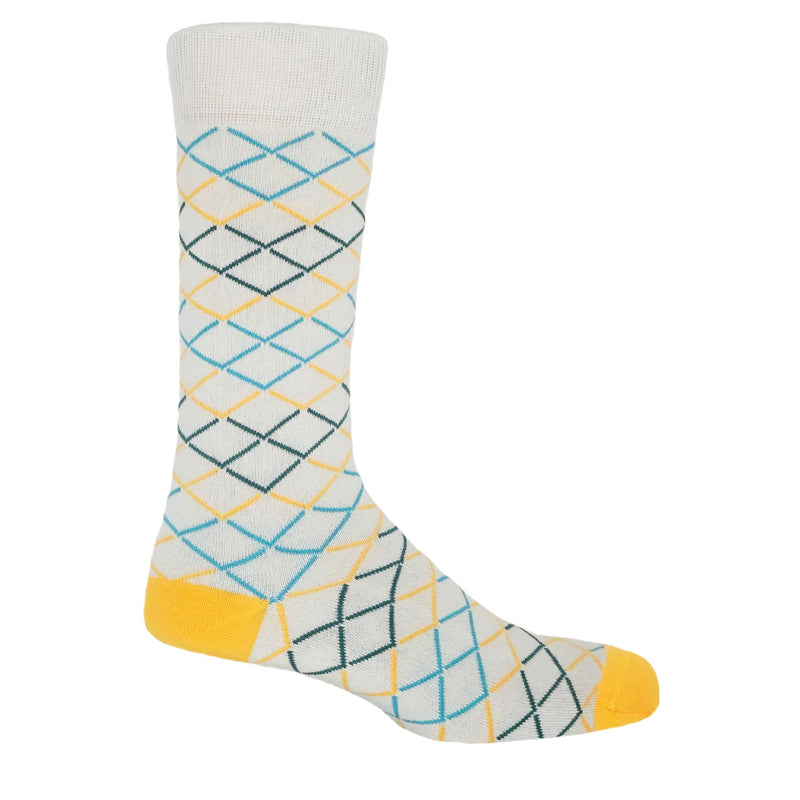 Hastings Men's Socks - Grey & Yellow