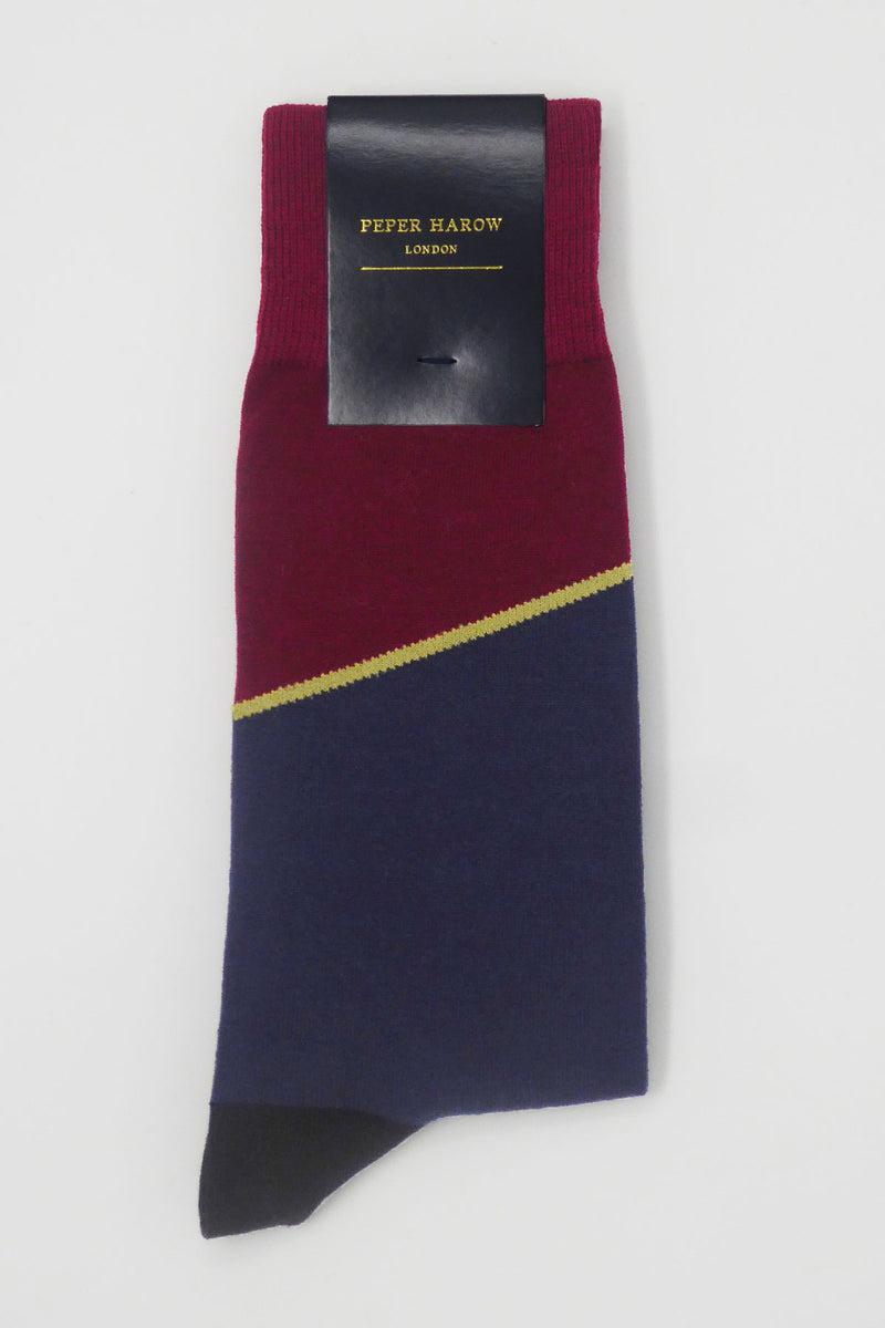 Hilltop Burgundy Luxury Men's Socks