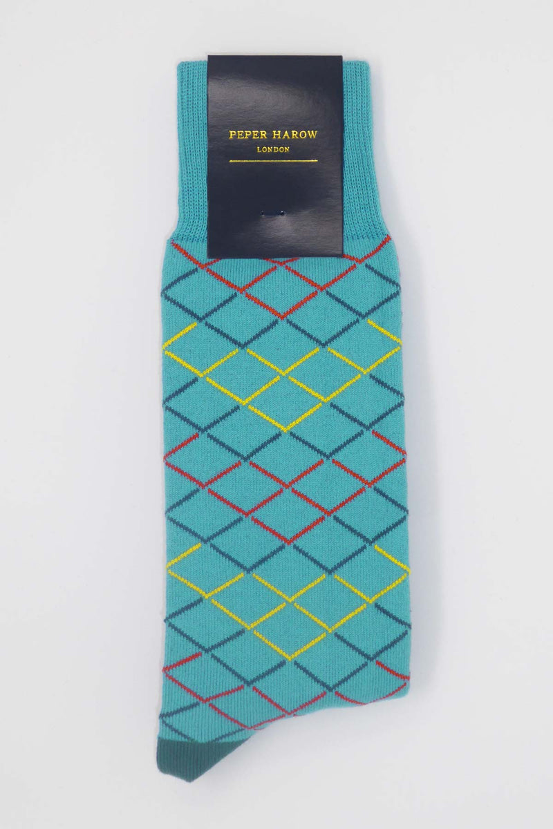 Blue Hastings Luxury Men's Socks
