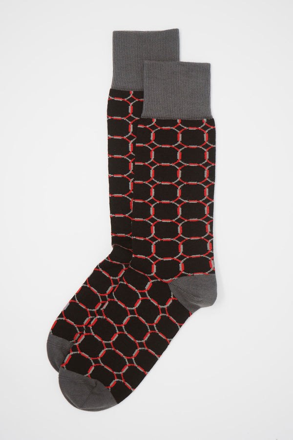Linked Men's Socks - Navy