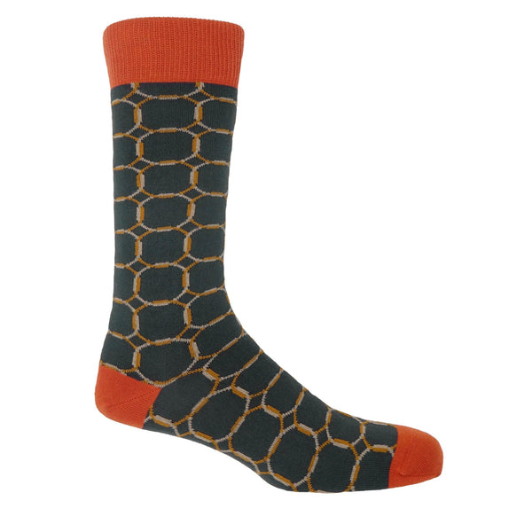Grey Linked Men's Luxury Socks